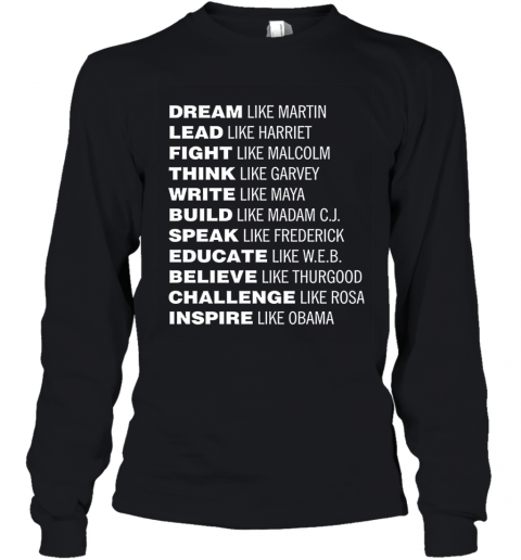 Black Lives Matter Dream Like Martin Youth Long Sleeve