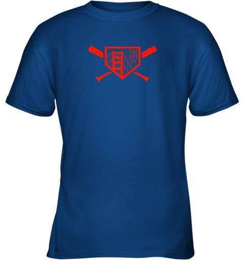 qpt9 cool san francisco baseball the city bridge sfo youth t shirt 26 front royal