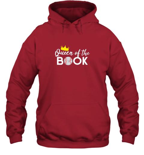 p3g1 scorekeeper baseball team scorebook queen hoodie 23 front red