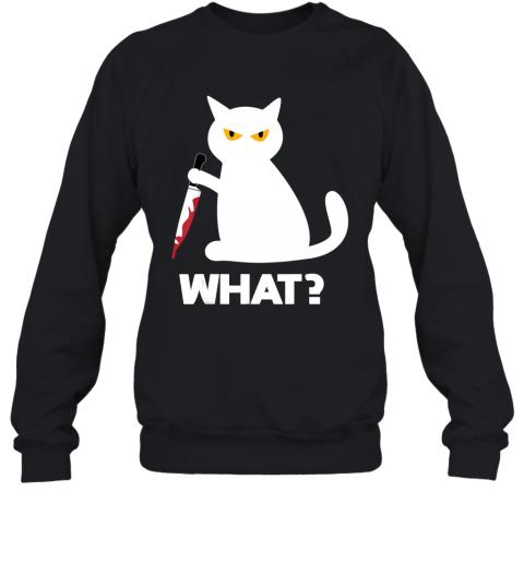 Killer Cat Bloody Knife Costume Funny Animal Halloween Gifts Sweatshirt