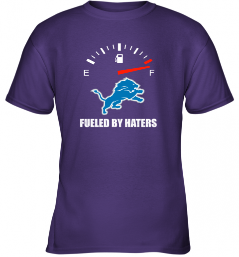 mrit fueled by haters maximum fuel detroit lions youth t shirt 26 front purple