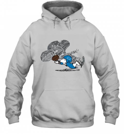 Detroit Lions Snoopy Plays The Football Game Hoodie