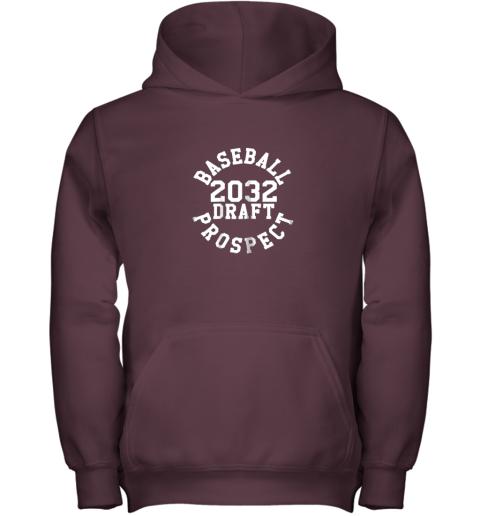 azw2 kindergarten shirt funny class of 2032 baseball gift youth hoodie 43 front maroon