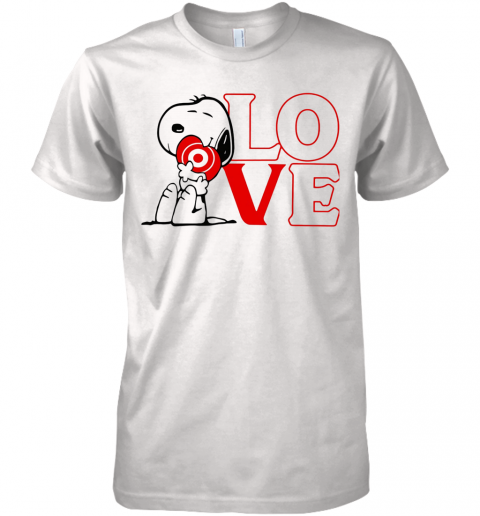 Snoopy Hug Heart Love Target Premium Men's T-Shirt