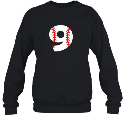 Ninth Birthday 9th BASEBALL Shirt  Number 9 Born in 2010 Sweatshirt