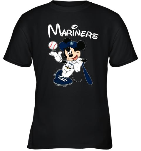 Baseball Mickey Team Seattle Mariners Youth T-Shirt
