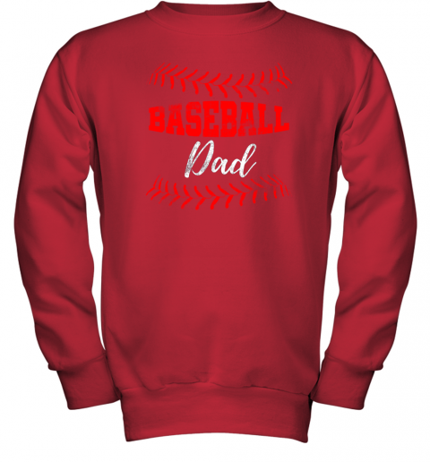 c9om mens baseball inspired dad fathers day youth sweatshirt 47 front red