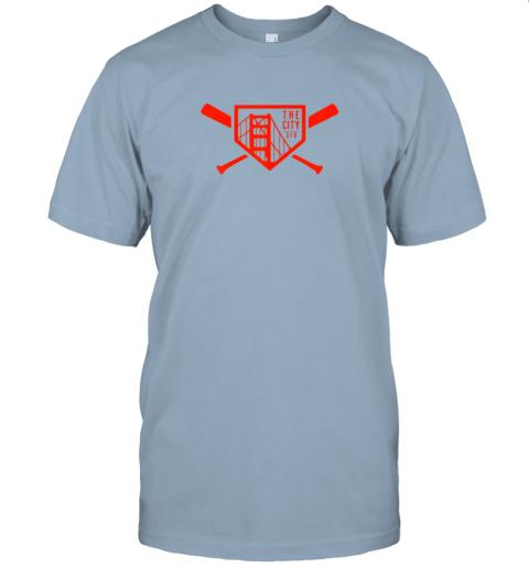 yuvv cool san francisco baseball the city bridge sfo jersey t shirt 60 front light blue
