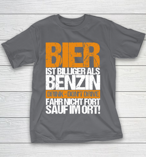 Beer Lover Funny Shirt Beer Cheaper Than Gasoline Drinking Alcohol Drinking Party Saying Youth T-Shirt 5