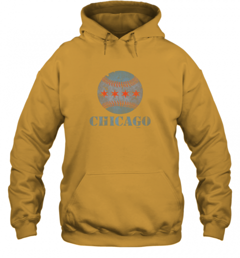 sqmh vintage chicago baseball flag hoodie 23 front gold
