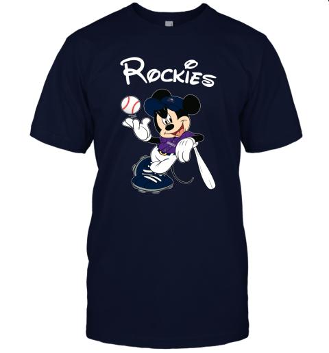 Baseball Mickey Team Colorado Rockies Unisex Jersey Tee