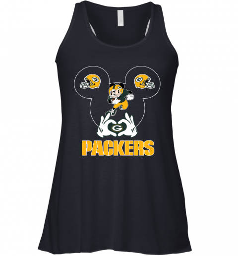 woyg i love the packers mickey mouse green bay packers flowy tank 32 front midnight