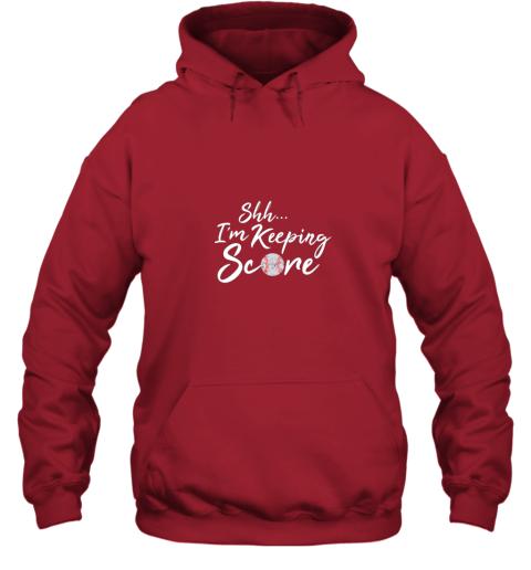 dnyv scorekeeper baseball team scorebook keeper hoodie 23 front red
