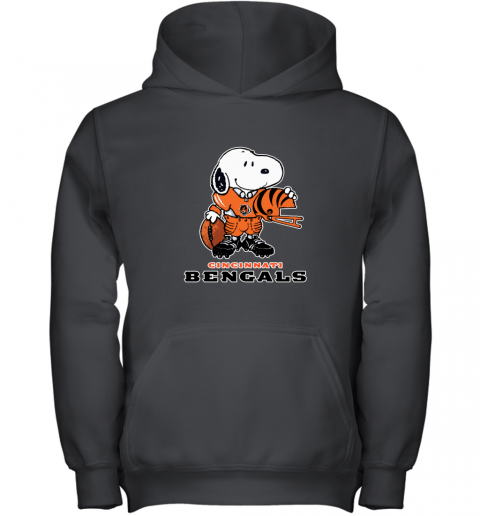 Snoopy A Strong And Proud Cincinnati Bengals NFL Youth Hoodie