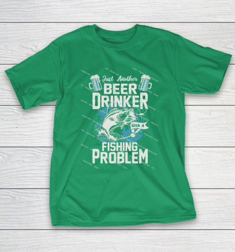 Beer Lover Funny Shirt Fishing ANd Beer T-Shirt 5