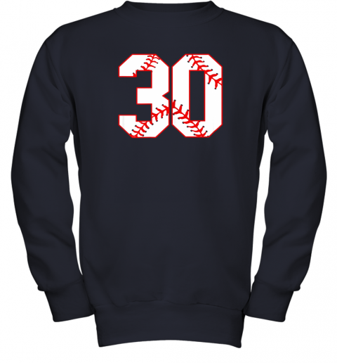 g99j thirtieth birthday party 30th baseball shirt born 1989 youth sweatshirt 47 front navy