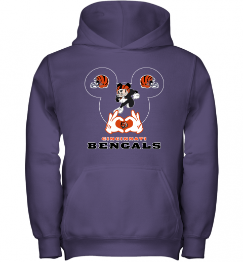 qyyq i love the bengals mickey mouse cincinnati bengals youth hoodie 43 front purple