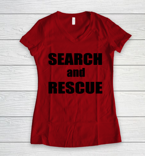 Trump Search And Rescue Women's V-Neck T-Shirt 6