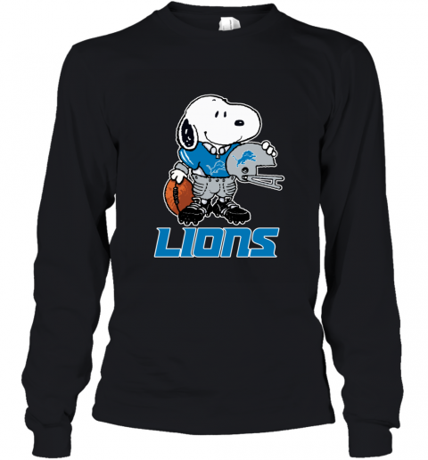 Snoopy A Strong And Proud Detroit Lions Player NFL Youth Long Sleeve