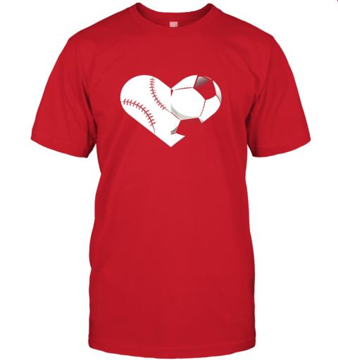 lbed soccer baseball heart sports tee baseball soccer jersey t shirt 60 front red