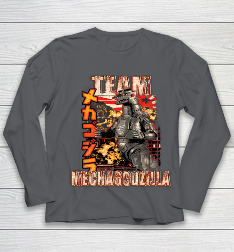 Team Mechagodzilla Japan Vintage Style Youth Long Sleeve 6