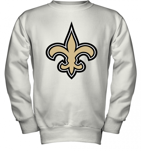 Orleans Saints NFL Pro Line Gray Victory Youth Sweatshirt