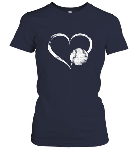 xutk i love baseballl funny baseball lover heartbeat ladies t shirt 20 front navy