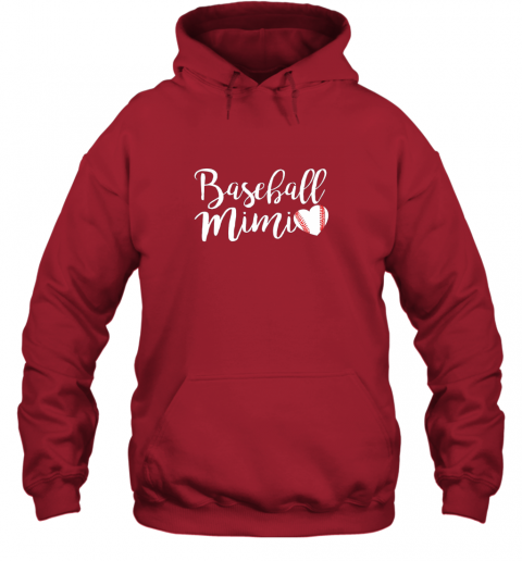 su3y funny baseball mimi shirt gift hoodie 23 front red