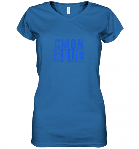 qwwy cmon blue umpire baseball fan graphic lover gift women v neck t shirt 39 front royal