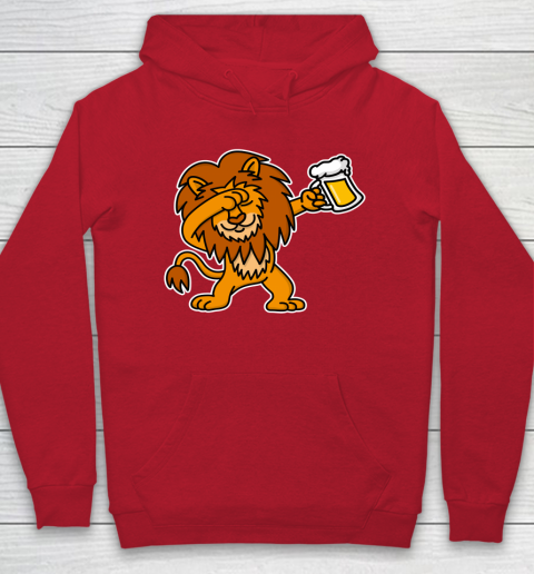 Beer Lover Funny Shirt Dab Dabbing Lion Beer Dutch King's Day King Lions Hoodie 7