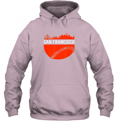 hpf3 san francisco baseball vintage sf the city skyline gift hoodie 23 front light pink