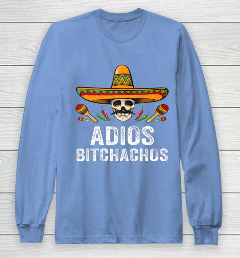 Adios Bitchachos Shirt Funny Mexican Skull Cinco De Mayo Long Sleeve T-Shirt 8