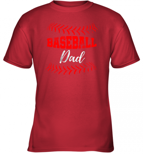 qgqx mens baseball inspired dad fathers day youth t shirt 26 front red