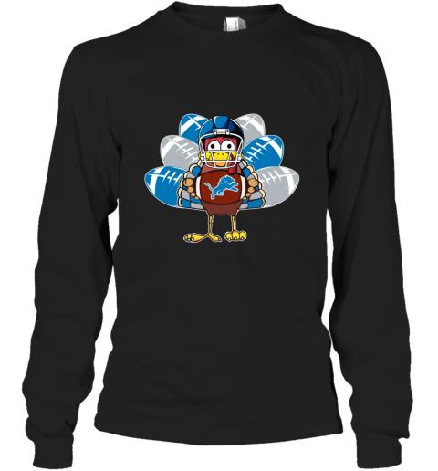 Detroit Lions  Thanksgiving Turkey Football NFL Long Sleeve T-Shirt