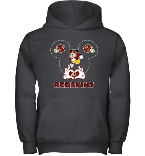 I Love The Redskins Mickey Mouse Washington Redskins Youth Hoodie
