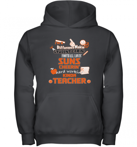 Phoenix Suns  I'm A Difference Making Student Caring Basketball Loving Kinda Teacher Youth Hoodie