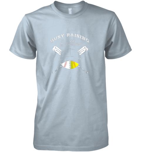 wgfq busy raising ballers softball baseball mom funny gift premium guys tee 5 front light blue