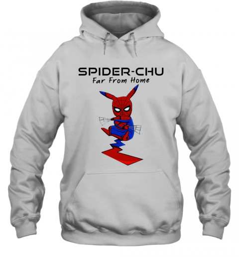 us28 spider chu far from home spider man pokemon pikachu mashup shirts hoodie 23 front white
