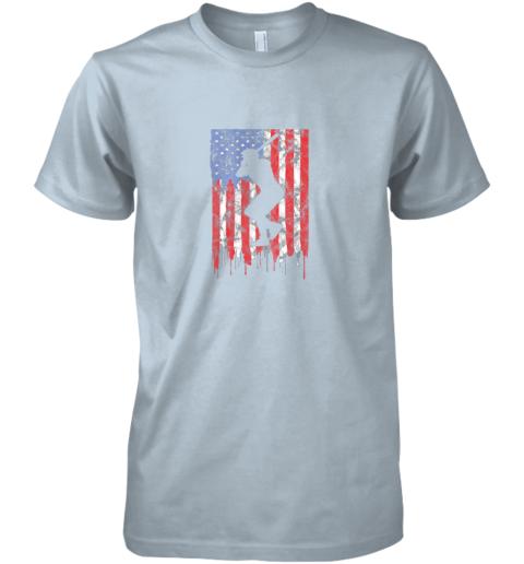 xch3 vintage patriotic american flag baseball shirt usa premium guys tee 5 front light blue