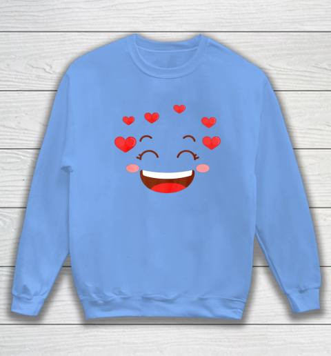 Kids Girls Valentine T Shirt Many Hearts Emoji Design Sweatshirt 8