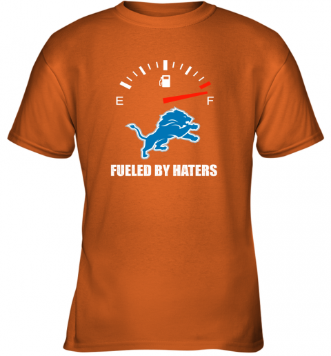 mrit fueled by haters maximum fuel detroit lions youth t shirt 26 front safety orange