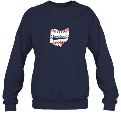 rkll cleveland ohio 216 baseball sweatshirt 35 front navy