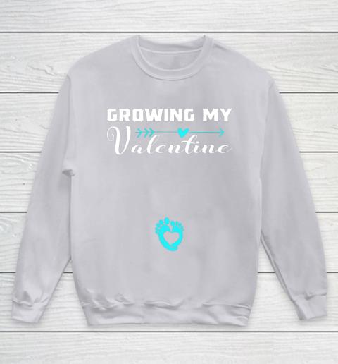 Cute Growing my Valentine Gift for Women pregnancy Youth Sweatshirt 3