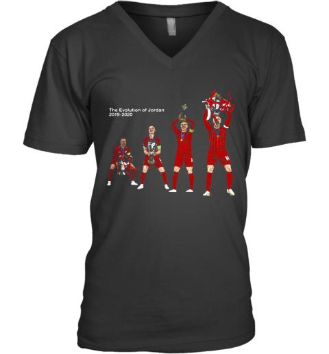 The Evolution Of Jordan 2019 2020 Liverpool Fc Champions V-Neck T-Shirt