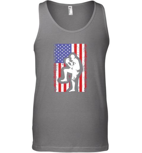 q0fl vintage usa american flag baseball player team gift unisex tank 17 front graphite heather