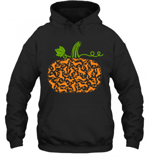 Pumpkin Fall Dachshund Dog Paw Halloween Costume Girl Women Hoodie