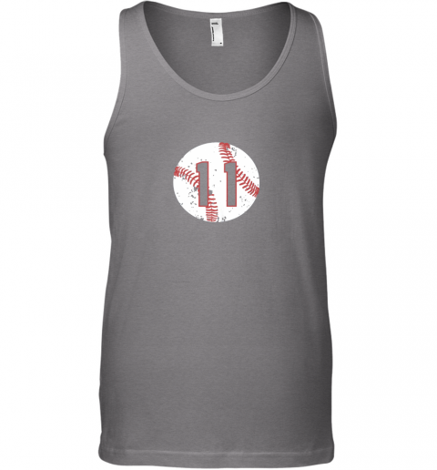 dpsn vintage baseball number 11 shirt cool softball mom gift unisex tank 17 front graphite heather