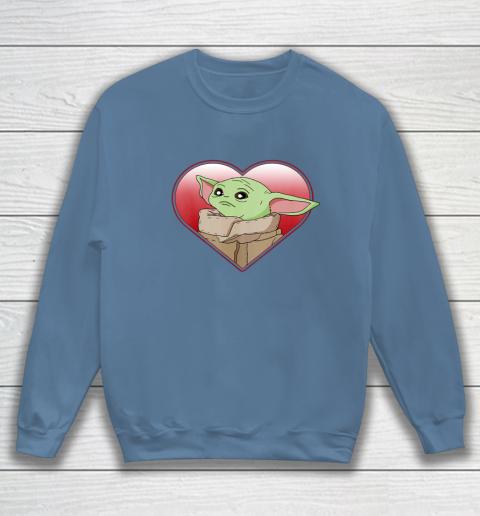 Star Wars The Mandalorian The Child Valentine Heart Portrait Sweatshirt 6