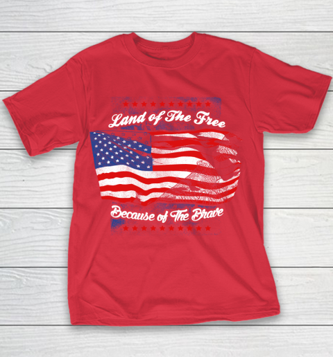 Veteran Land Of The Free Youth T-Shirt 15