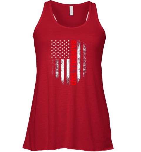 wgvu vintage usa american flag proud baseball dad player flowy tank 32 front red